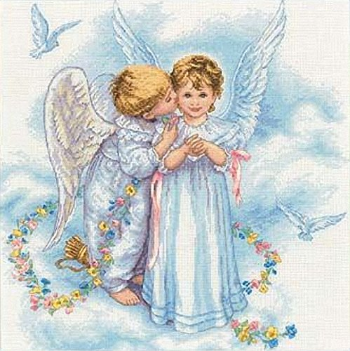 Dimensions Needlecrafts Counted Cross Stitch, Angel Kisses ()