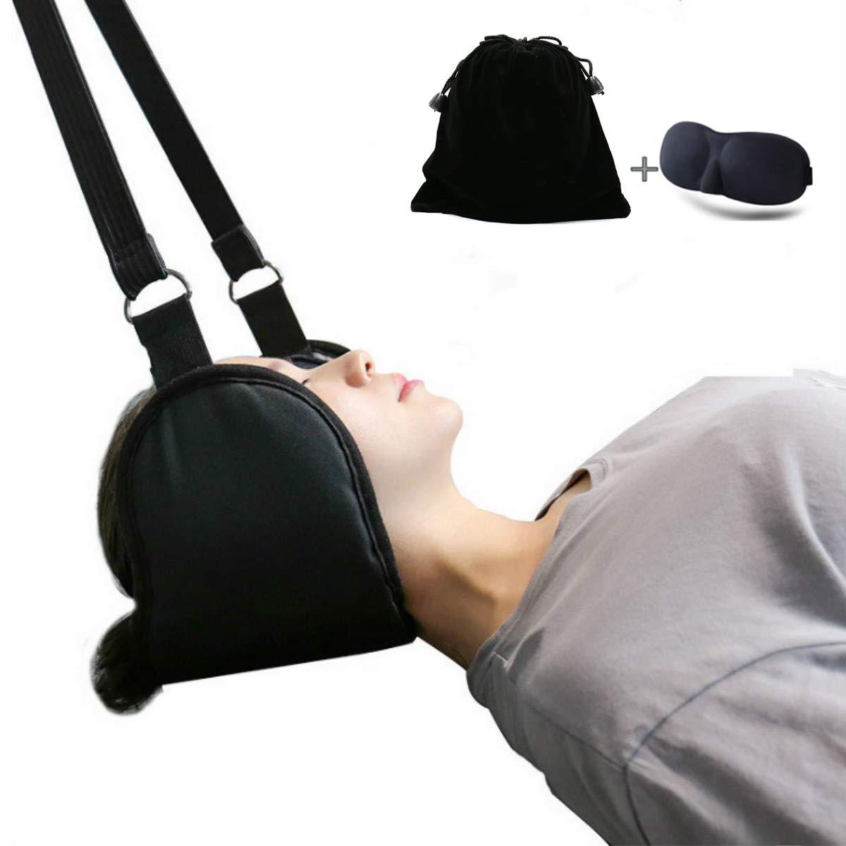 Hammock for Neck - Neck Pain Relief Hammock, Affordable Cervical Traction Hammock Device (deep Black)