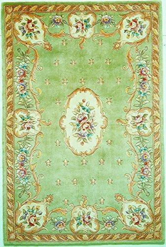 KAS Oriental Rugs Ruby Collection Fleur-De-Lis Aubusson Area Rug, 30