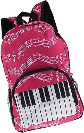 Mochila con Teclado Musical Nota Musical Mochila Bolso ...