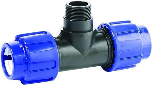 Agora-Tec/® 32mm PE-Rohr T-St/ück Verschraubung Fitting Kupplung