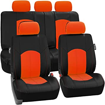 Airbag Compatible and Split Bench FH1002 Non-Slip Dash Grip Pad- Fit Most Car FH Group FH-FB060115 Trendy Elegance Car Seat Covers Red//Black or Van Truck SUV