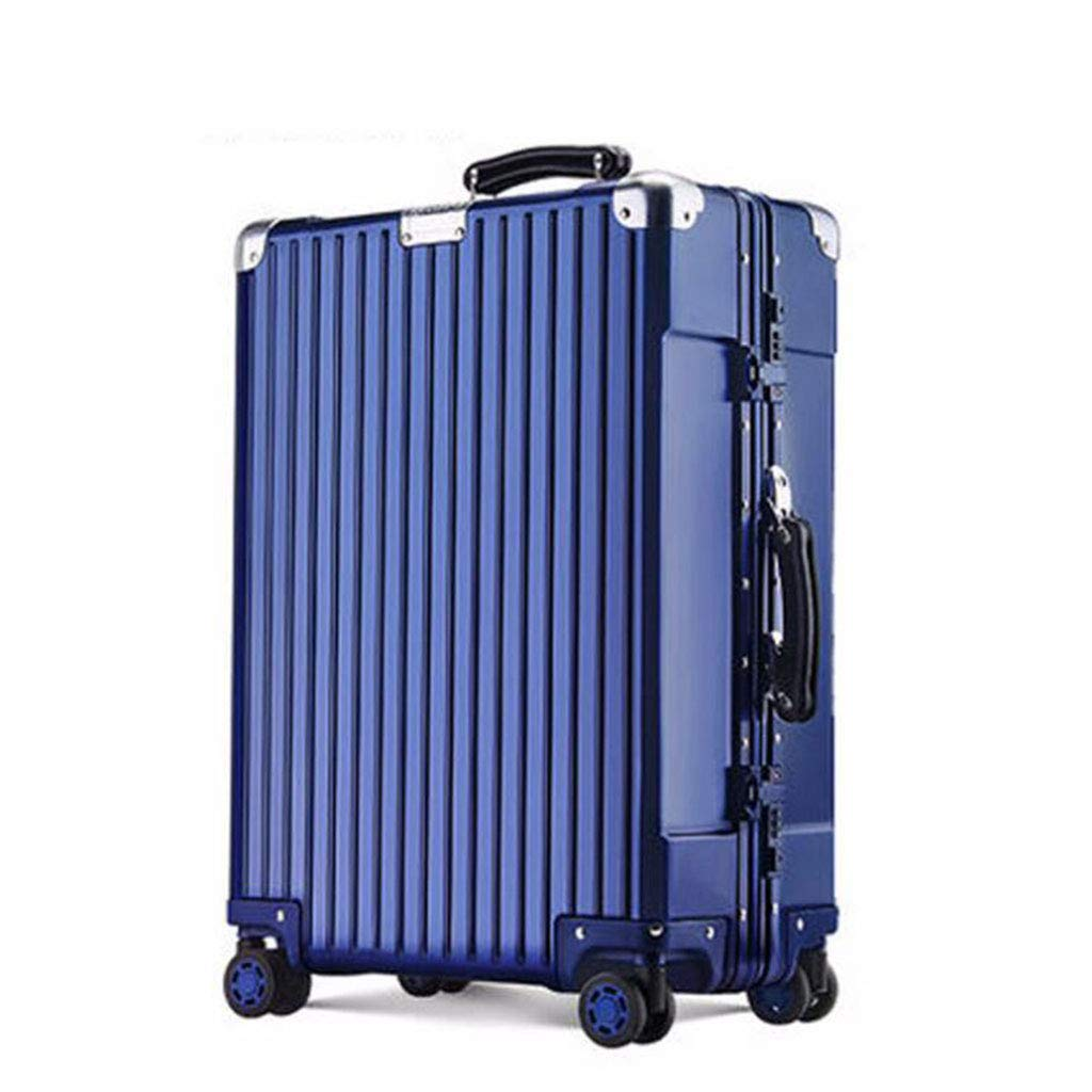 SUN HUIJIE 20 inches Trolley case One Piece Magnesium Alloy Aluminum Alloy Full Metal Trolley case Unisex Luggage Box Boarding Box