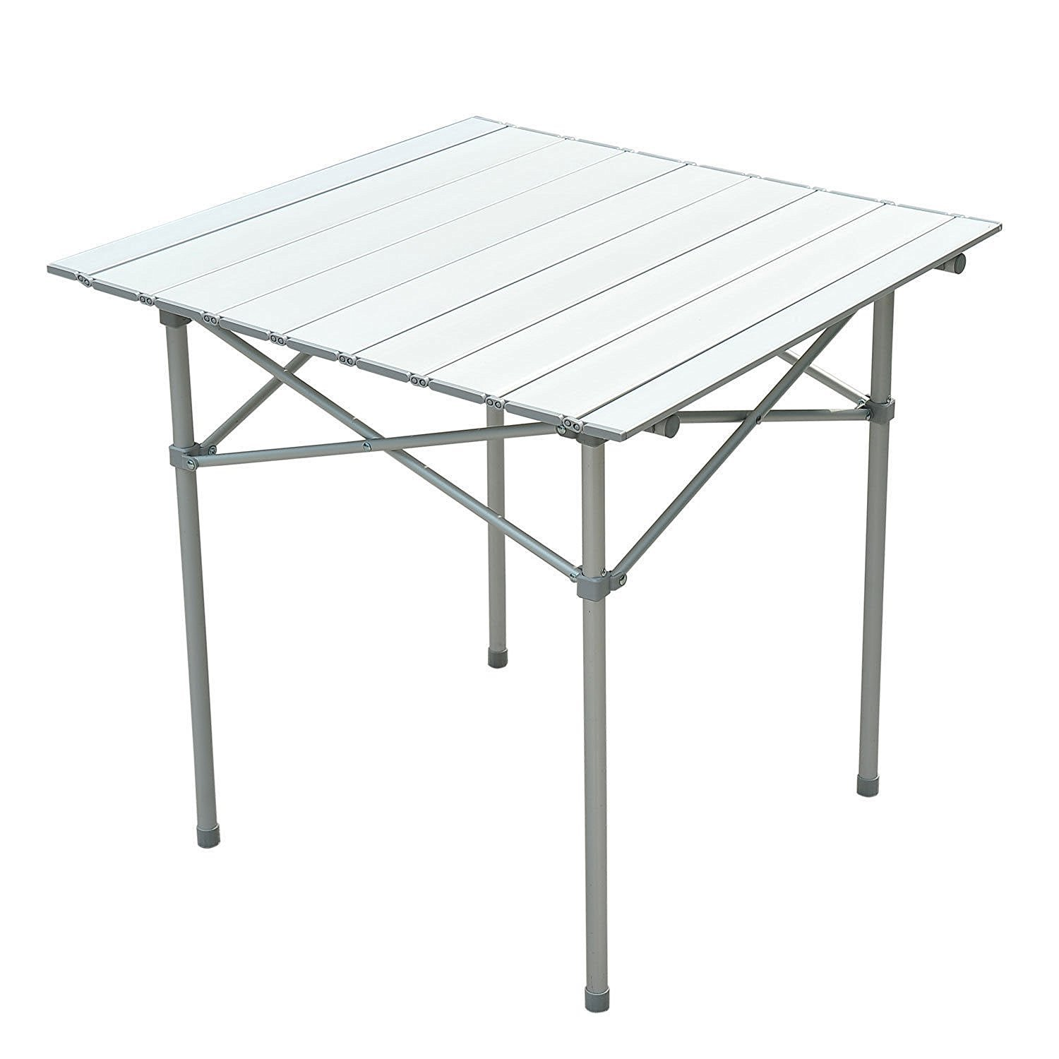28''X28'' Roll Up Portable Folding Camping Square Aluminum Picnic Table Desk W/Bag Seating Capacity 4 Easy To Clean Top Brand New by Generic