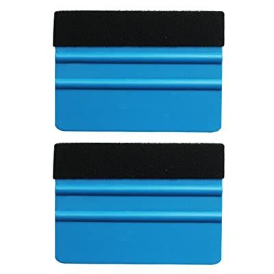 EEFUN Durable Black Felt Edge Squeegee 4 Inch for Car Vinyl Film Wrapping Decal Squeegee Window Tint Work, Professional Scratch Free Squeegee. Pack of 2: Automotive