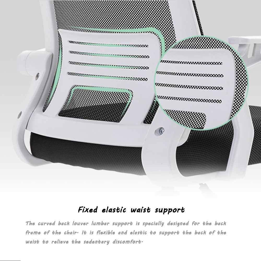 Bekväm kontorsstol, roterande räcke lyft justerbar verkställande stol ergonomi hushåll datorstol för student sovsal kontor Grått