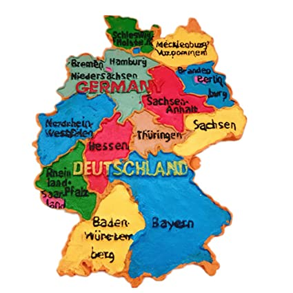 Amazon.com: Deutschland map Germany 3D refrigerator magnet ...