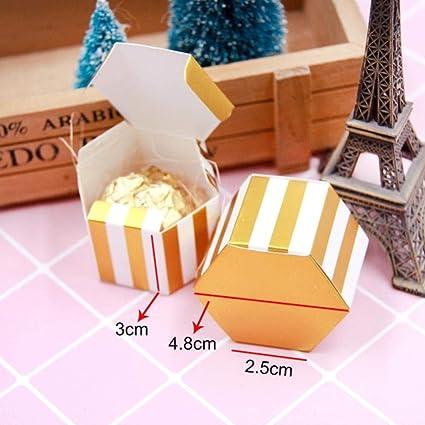 Passionate Turkey Lovely Gold Hexagon Candy Confezione Regalo Per Matrimonio Compleanno Scatole Per Imballaggio Natalizio Articoli Per Feste C Amazon It Casa E Cucina