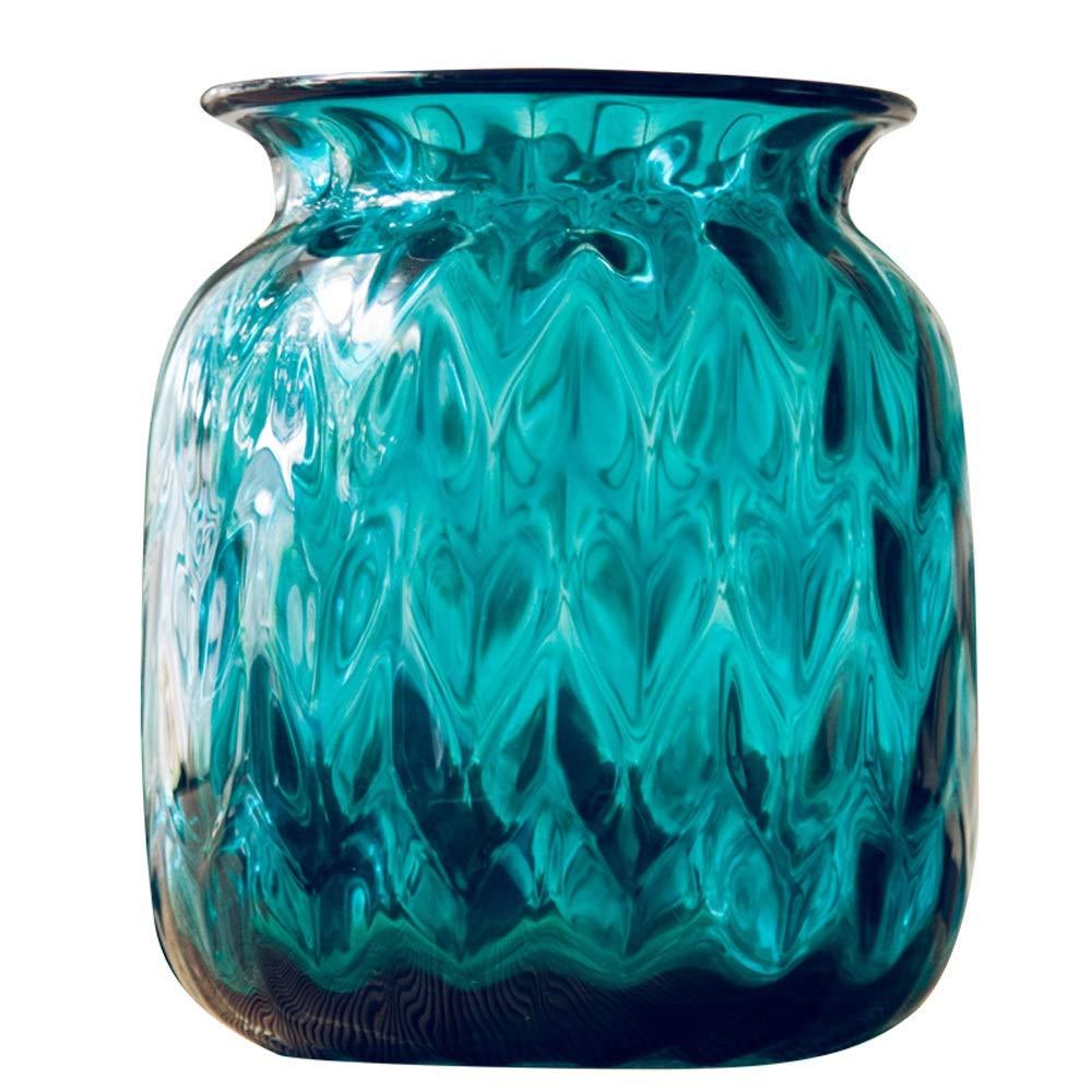 色ガラス花瓶用花緑植物結婚式の植木鉢装飾ホームオフィスデスク花瓶花バスケットフロア花瓶 B07QZHDZ89