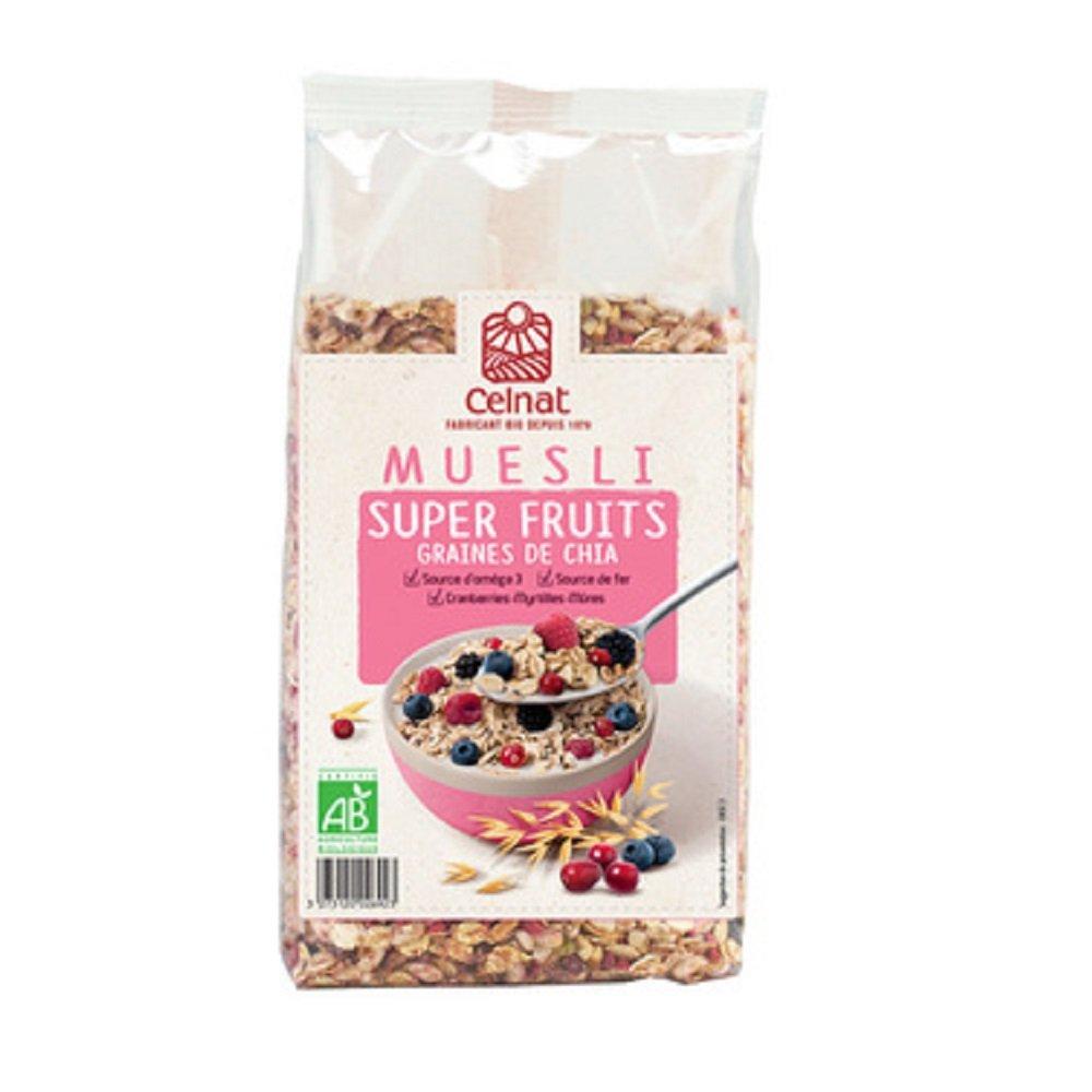 Muesli superfruits con chia Celnat BIO 375g: Amazon.es ...
