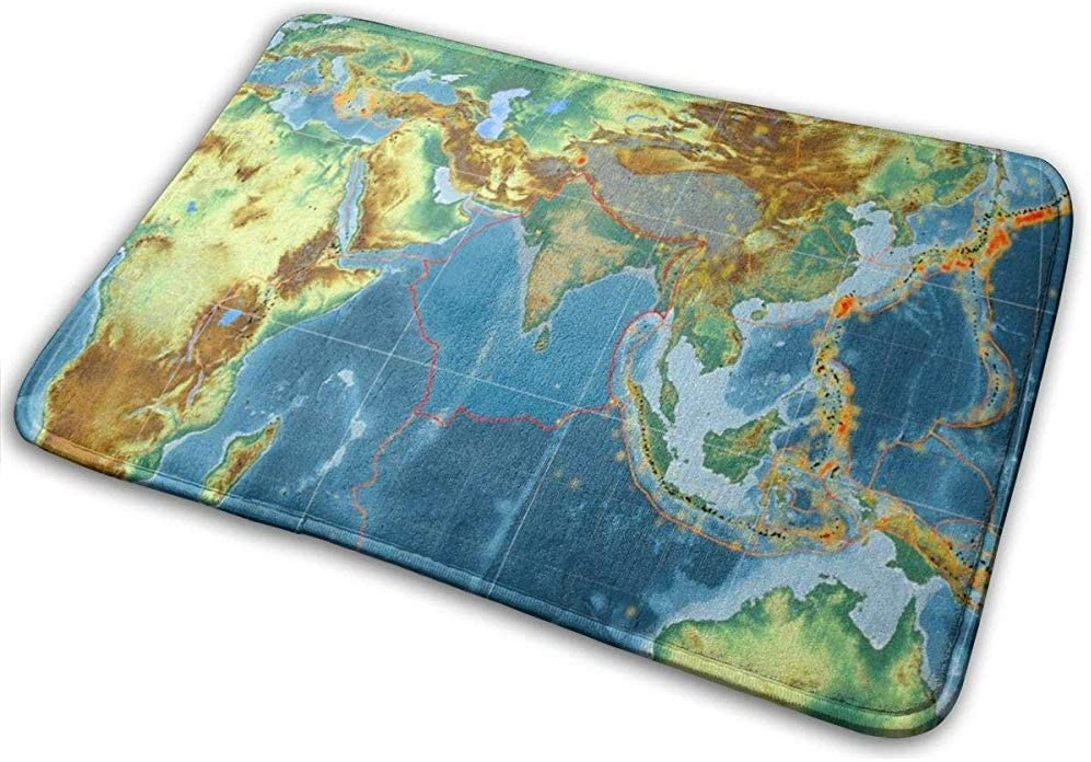 Placa tectónica Indain contorneada en el Mapa de Relieve ...