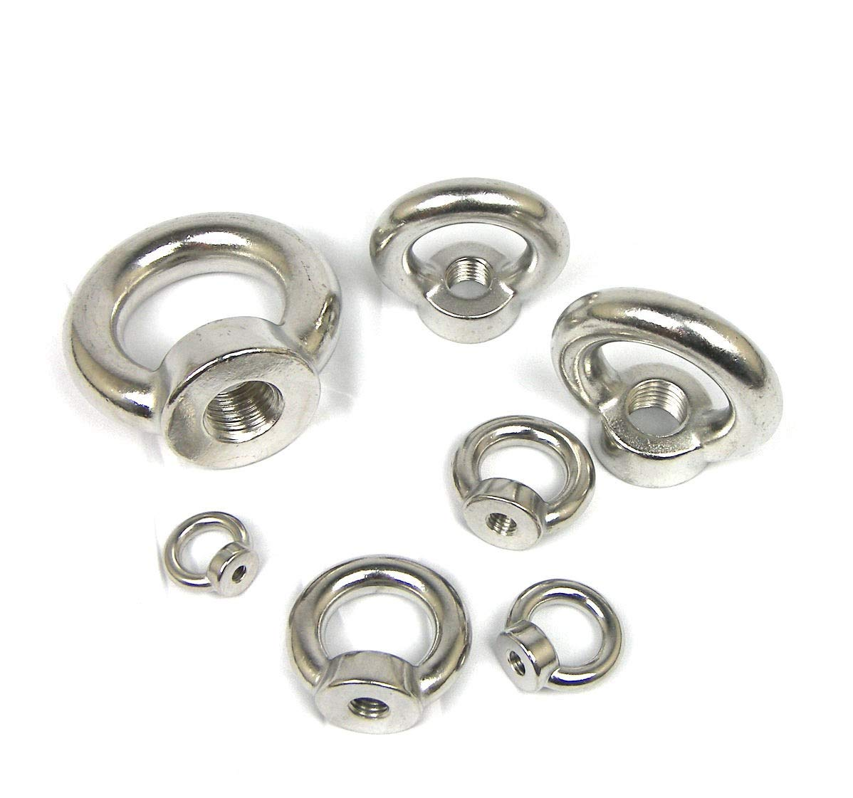 Stainless Steel T316 Din582 Lifting Eye Nut - 3/4'' (2pc Set)