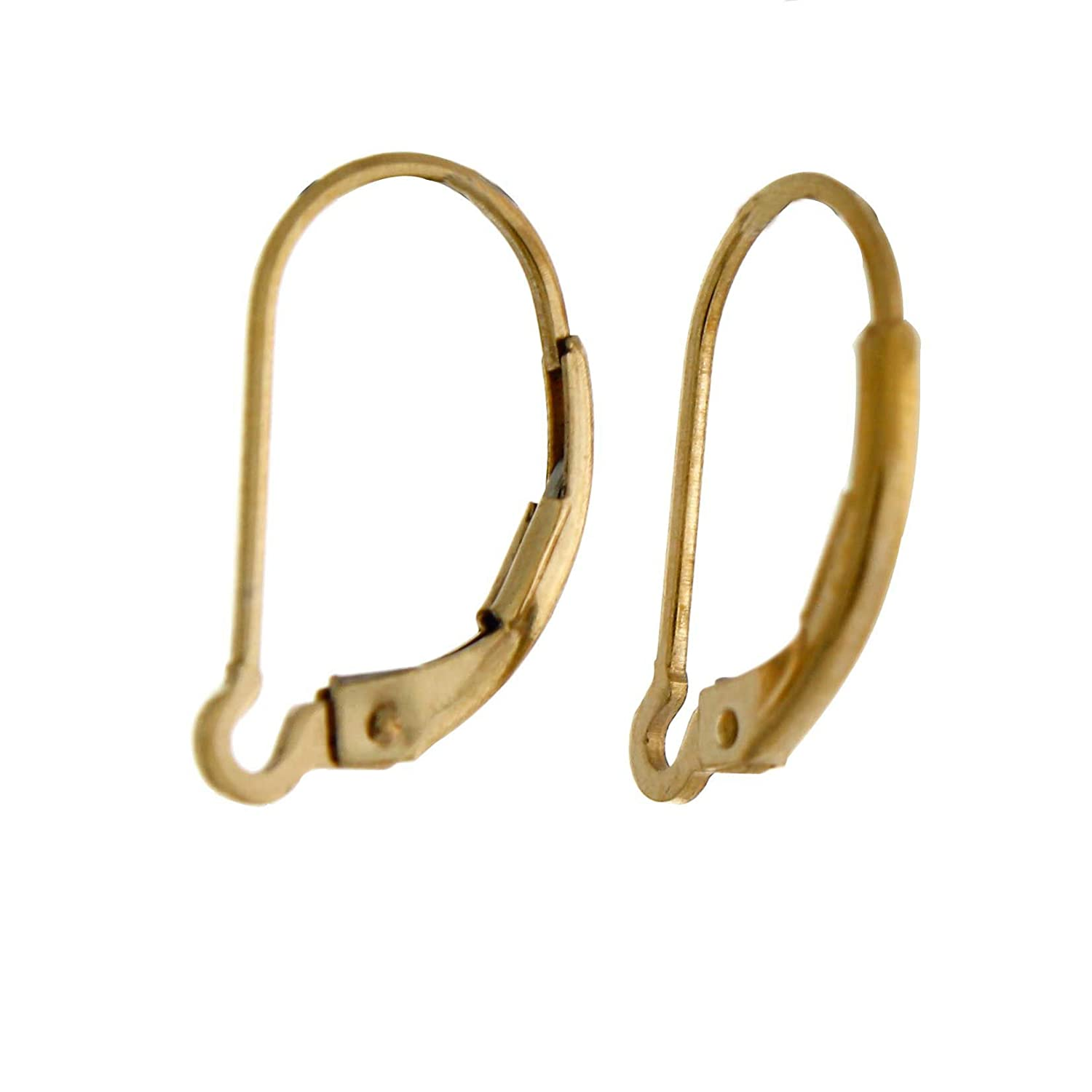 14K Gold Filled Interchangeable Lever Back Earring Findings 2 Pairs