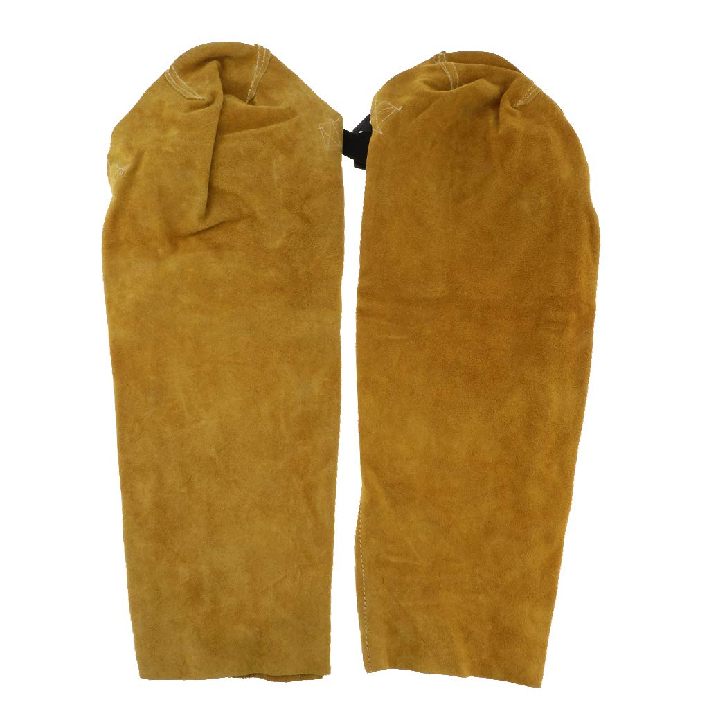 Homyl Durable Yellow Soldering Sleeves Button Cuff Flame Resistant Fire Resistant