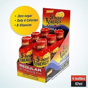 5 hour ENERGY Regular, Orange,   (Pack of 6)