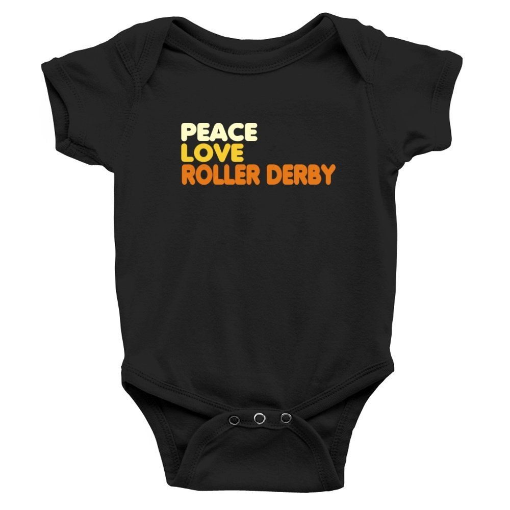 Teeburon PEACE , LOVE AND Roller Derby Baby Bodysuit TEE00993622F5A5146139