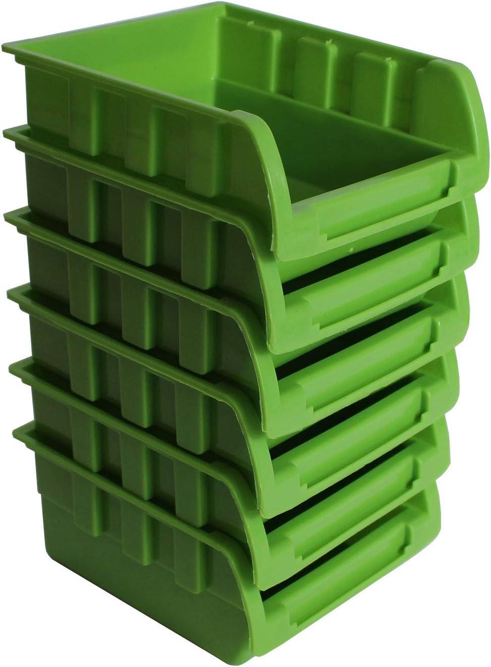 TrutzHolm/® Wandregal mit Stapelboxen und Werkzeughalter Hakenset 52 tlg