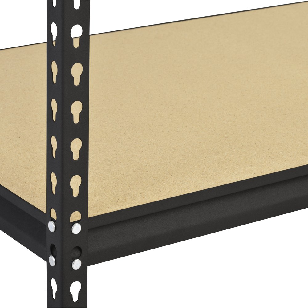 Heavy duty adjustable shelf brackets - Amazon Com Sandusky Edsal Ur185p Blk Black Steel Heavy Duty 5 Shelf Shelving Unit 4000lbs Capacity 36 Width X 72 Height X 18 Depth Industrial