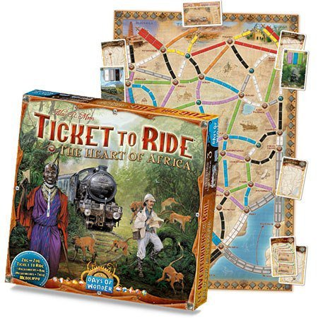 Ticket To Ride The Heart of Africa - Hearts Small Ticket