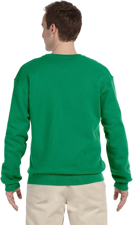 Jerzees Herren-Sweatshirt, pillingresistent, lange Ärmel, Rundhalsausschnitt. Kelly