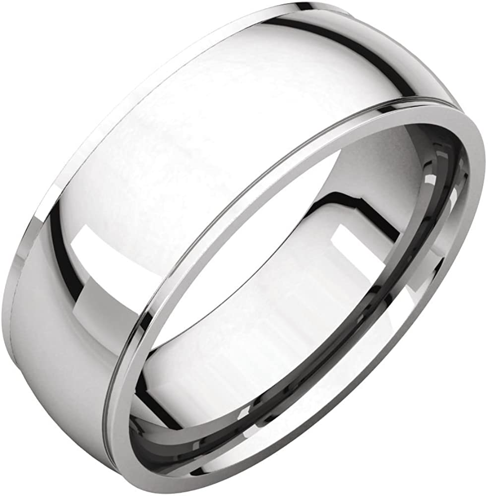 FB Jewels 10k White Gold 3mm Light Comfort Fit Mens Wedding Ring Band Size 14.5