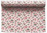 Cotton Printed Placemat - 18.9 x 12.6 in - 6 units per roll - Flowers