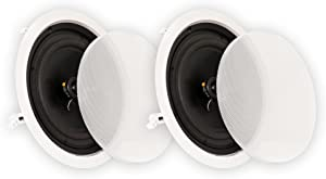 "Theater Solutions CS8C In Ceiling 8"" Speakers Surround Sound Home Theater Pair"