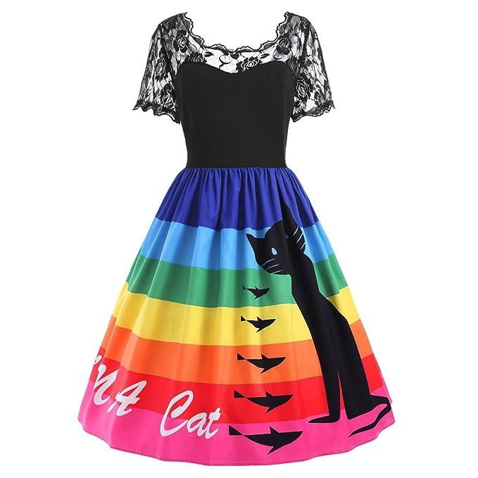 1a1704dbea91 Schwarzer Freitag Kleider Damen Kleid 1950er Vintage Brautjungfernkleid  Petticoat Kurz Ballkleid Kleiderbügel Hepburn, Kurzarm Weihnachten  Schneemann ...