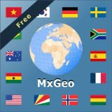 World map & world atlas MxGeo Free