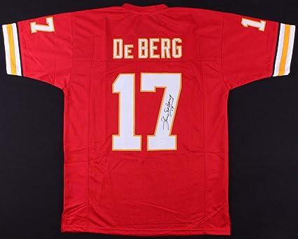 dcebcd508 Steve Deberg Autographed Signed Kansas City Chiefs Jersey - JSA Certified