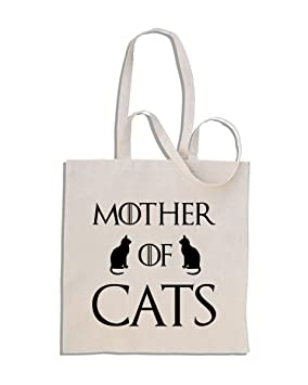 8be4bff04de Mother of Cats - Funny Cotton Shopper Tote Bag: Amazon.co.uk: Luggage