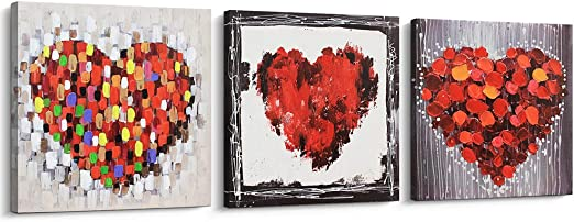 Stylish Canvas Wall Painting Love Letters Picture Art Poster Home Office Decor C