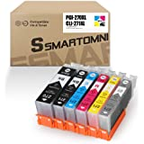 S SMARTOMNI Compatible Ink Cartridge Replacement for Canon PGI-270XL CLI-271XL PGI 270 to use with PIXMA TS8020 TS9020 MG7720 (1 Large Black 1 Small Black 1 Cyan 1 Magenta 1 Yellow 1 Gray) 6 Pack