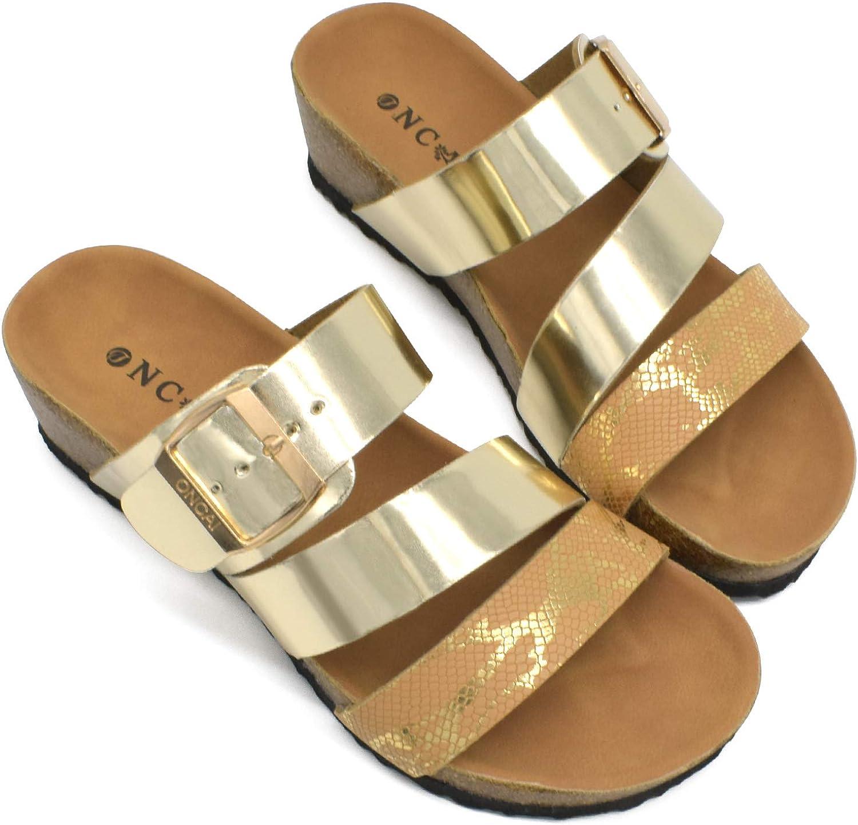 ONCAI Women's -Platform-Wedge-Sandals