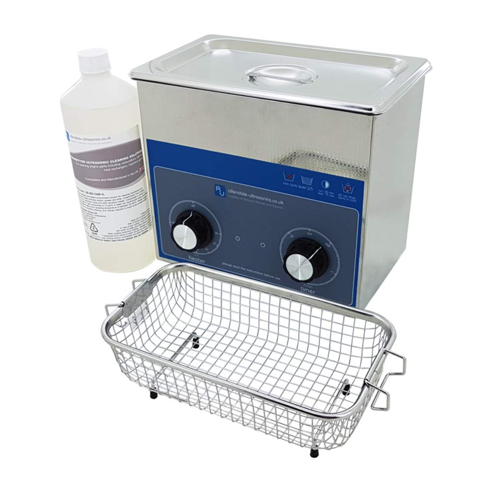 Mechanics 3 Litre Ultrasonic Cleaning Kit - Cleaner, Carburettor Cleaning Fluid, and Basket Allendale Ultrasonics