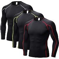 ZENGVEE para Camisetas de Compresión Hombres de Secado Rápido, Paquete de 3 Chalecos, Camisetas para Hombre, Camisetas…