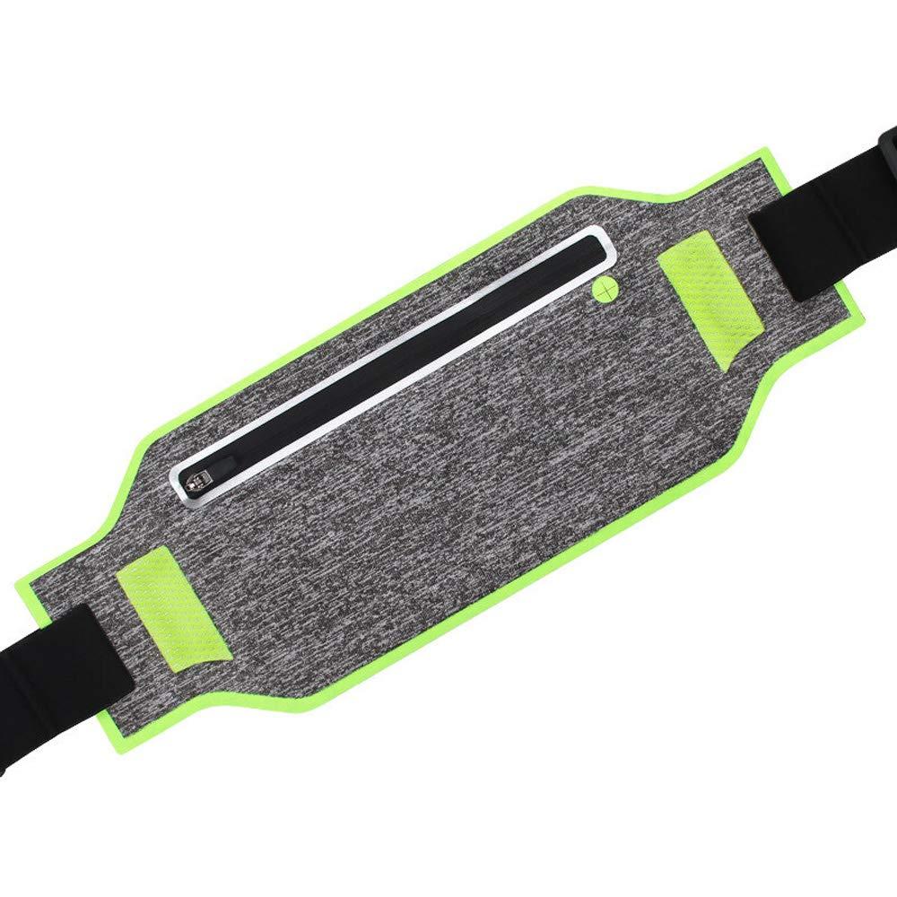 GREEN Lvxingbaojulebu888ZOUQILAI Outdoor Running Mobile Phone Bag AntiFall Wear Pockets Invisible UltraLight Body Climbing Sports Fitness Riding Waist Pack