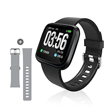 Heart Rate Monitor Watch Bluetooth to App iPhone, Android  Monitors Heart  Rate, Blood Pressure, Sleep &