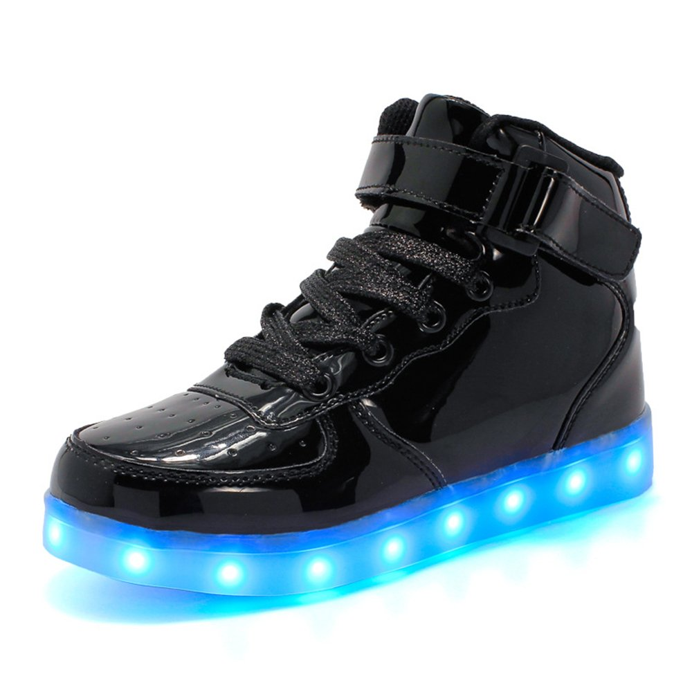 Man/Woman High Top Velcro LED LED LED Light up Shoes 7 Colors USB Flashing Rechargeable Walking Sneakers for Kids Boots Economical and practical Optimal price Rich on-time delivery VV86618 046a01