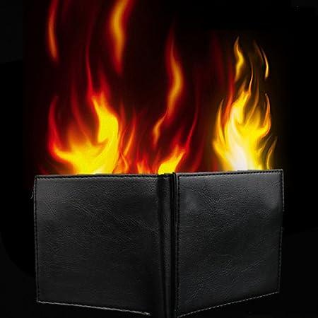 Mengonee Zaubertrick Flamme Feuer Brieftasche Magier Trick