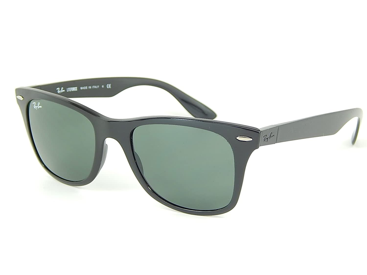 74126ae33ff Ray Ban Liteforce RB4195 601 71 Black Green Classic 52mm Sunglasses   Amazon.co.uk  Clothing