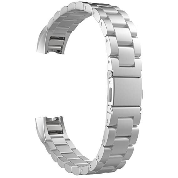 f894fd1b56937 Fitbit Alta HR and Alta Bands,Stainless Steel Bands Metal Wristband Small  Large for Fitbit Alta Bracelet Men Women Premium Replacement Accessory Band  ...