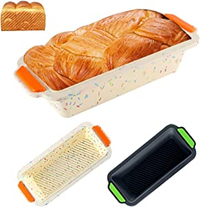 Silicone Hamburger Bread 1 Grid Small Toaster Oven Perforated Bakery Molds Non Stick Bakeware Baking Sheets Fit Half Pan Siz … (WHITE)