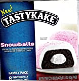 Tastykake Snowballs Coconut & Marshmallow Covered Creme Filled Chocolate Cakes Family Pack 8 Individually Wrapped Cakes Perfect for Lunches, Snacks or Anytime