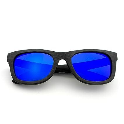 Naudamp Gafas de sol de madera para hombre y para mujer ...