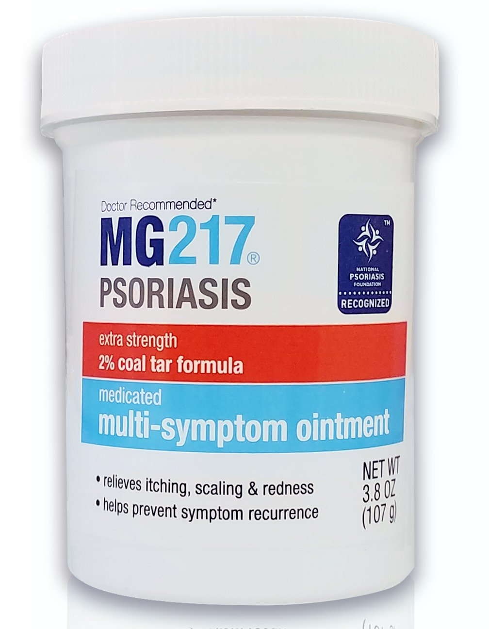 MG217 Psoriasis Treatment, Medicated Conditioning 2% Coal Tar Multi-Symptom Ointment, 3.8 Ounce by MG217