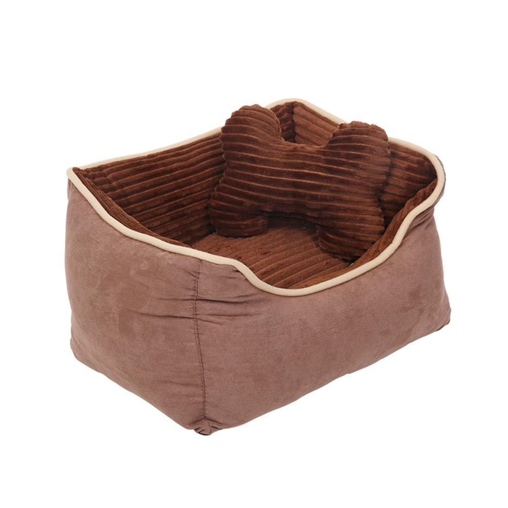 Brown Medium Brown Medium ZWYGXL Kennel Summer golden Retriever Dog Teddy Dog Medium-Sized Dog Large Small Dog Not Easy to Dirty Washable Pet Dog Bed Supplies Four Seasons Suitable (color   Brown, Size   M)