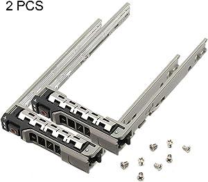 "2 PCS 2.5"" SAS/SATA Hard Drive Tray Caddy for Dell Poweredge Series 11/12/13 Generation Models R610, R620, R630, R920, R930 Server, etc. MD1220, MD1420. MD3820 Storage, etc. (2 PCS)"