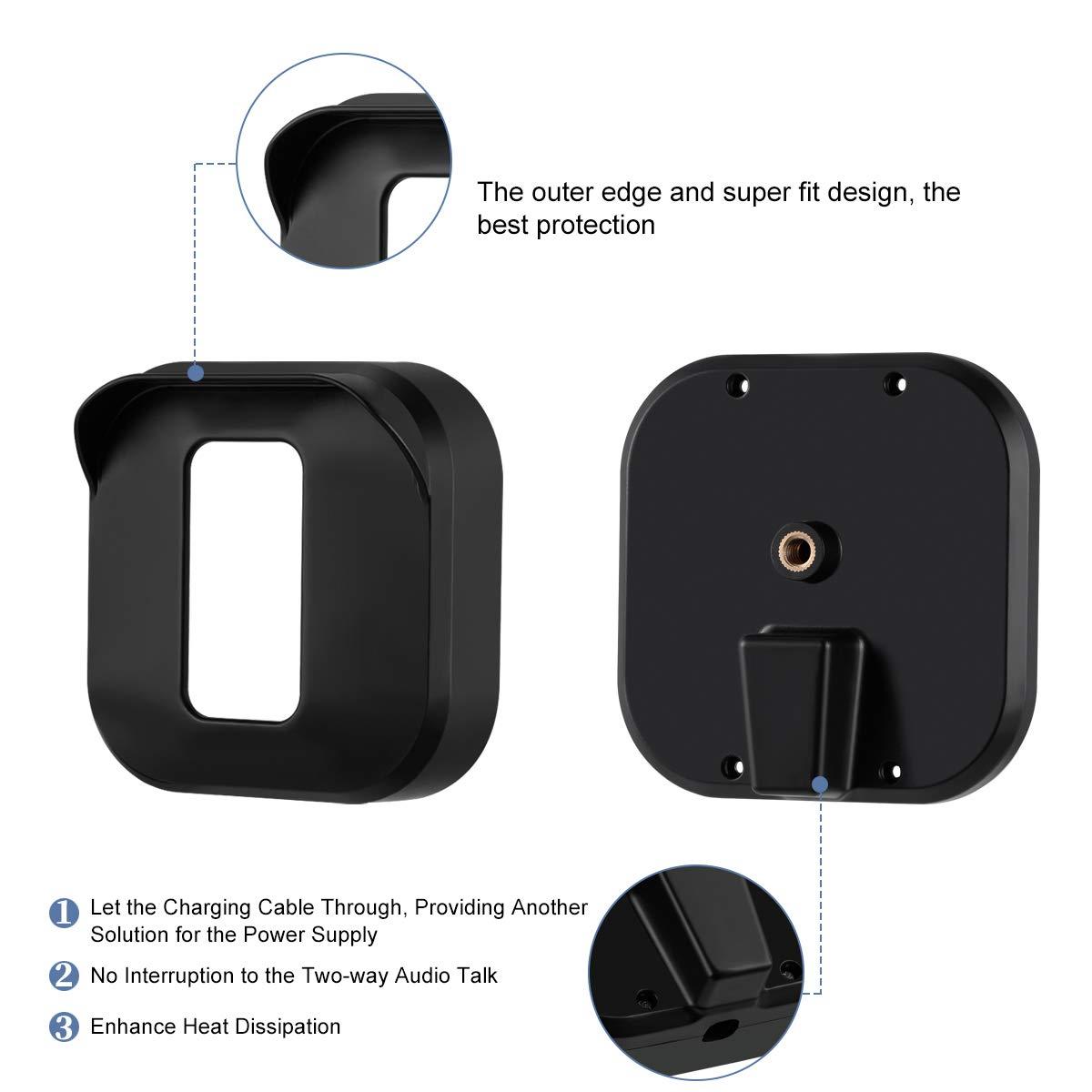 Resistente a la Intemperie Sonomo Funda Protectora y Soporte Ajustable para Sistema de c/ámara de Seguridad para el hogar Blink XT2//XT Negro, 3 Unidades Soporte de Pared para c/ámara Blink XT2