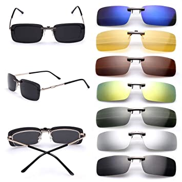 6307efbce2 Cosprof Polarized Lenses Clip On Sunglasses UV400 Driving Outdoor Glasses   Anti-glare  Driving